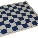 The Chess Store Silicone Rollup Chess Board Blue – 2.25″ Squares