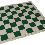 The Chess Store Silicone Rollup Chess Board Green – 2.25″ Squares