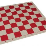 The Chess Store Silicone Rollup Chess Board Red – 2.25″ Squares