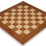 Teak & Maple Deluxe Chess Board – 2.125″ Squares