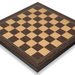 Tiger Ebony & Maple Molded Edge Chess Board – 2.375″ Squares