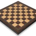 Tiger Ebony & Maple Molded Edge Chess Board – 2.375″ Squares