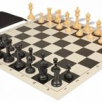 Deluxe Club Classroom Chess Set Package Black & Camel Pieces – Black