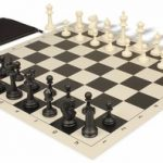 Master Series Classroom Chess Set Package Black & Ivory Pieces – Black
