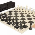 Master Series Carry-All Chess Set Package Black & Ivory Pieces – Black