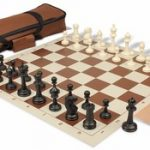 Master Series Carry-All Chess Set Package Black & Ivory Pieces – Brown