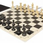 Master Series Classroom Chess Set Package Black & Tan Pieces – Black