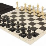 Master Series Easy Carry Chess Set Package Black & Tan Pieces – Black