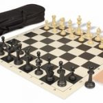 Master Series Carry-All Chess Set Package Black & Tan Pieces – Black
