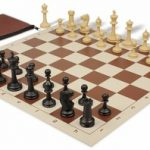 Master Series Classroom Chess Set Package Black & Tan Pieces – Brown