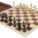 Master Series Easy Carry Chess Set Package Black & Tan Pieces – Brown