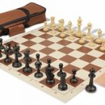 Master Series Carry-All Chess Set Package Black & Tan Pieces – Brown