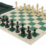Master Series Easy Carry Chess Set Package Black & Tan Pieces – Green