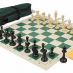 Master Series Carry-All Chess Set Package Black & Tan Pieces – Green