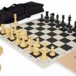 ProTourney Plastic Chess Set Kit Black & Camel – Black