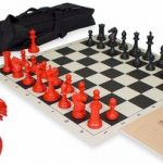ProTourney Tournament Chess Set Kit Black & Red – Black