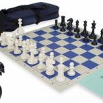 ProTourney Tournament Chess Kit in Black & Ivory – Blue