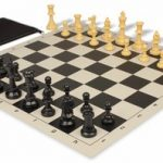 Value Club Classroom Chess Set Package Black & Camel Pieces – Black
