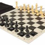 Value Club Easy Carry Chess Set Package Black & Camel Pieces – Black