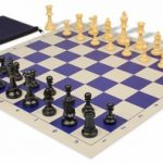 Value Club Classroom Chess Set Package Black & Camel Pieces – Blue