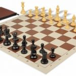 Value Club Classroom Chess Set Package Black & Camel Pieces – Brown
