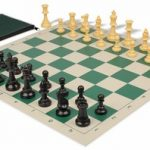 Value Club Classroom Chess Set Package Black & Camel Pieces – Green