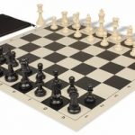 Value Club Classroom Chess Set Package Black & Ivory Pieces – Black