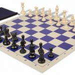 Value Club Classroom Chess Set Package Black & Ivory Pieces – Blue