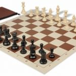 Value Club Classroom Chess Set Package Black & Ivory Pieces – Brown