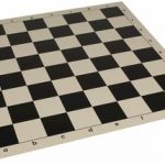 Club Vinyl Rollup Chess Board Black & Buff – 2.25″ Squares