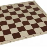 Club Vinyl Rollup Chess Board Brown & Buff – 2.25″ Squares