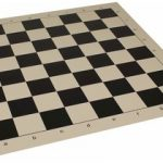 Club Vinyl Rollup Chess Board Black & Buff – 2.375″ Squares