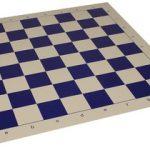 Club Vinyl Rollup Chess Board Blue & Buff – 2.375″ Squares