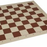 Club Vinyl Rollup Chess Board Brown & Buff – 2.375″ Squares