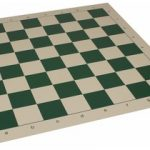 Club Vinyl Rollup Chess Board Green & Buff – 2.375″ Squares