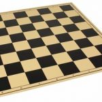 The Chess Store Premium Vinyl Rollup Chess Board Black – 2.25″ Squares