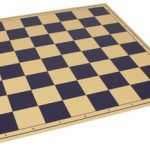 The Chess Store Premium Vinyl Rollup Chess Board Blue – 2.375″ Squares