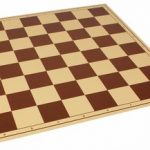The Chess Store Premium Vinyl Rollup Chess Board Brown – 2.25″ Squares