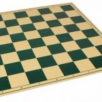 The Chess Store Premium Vinyl Rollup Chess Board Green – 2.25″ Squares