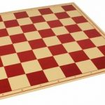 The Chess Store Premium Vinyl Rollup Chess Board Red – 2.25″ Squares