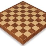 Walnut & Maple Classic Chess Board – 2.125″ Squares