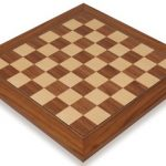 Walnut & Maple Deluxe Chess Board – 2″ Squares