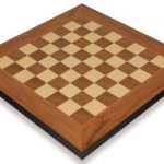 Walnut & Maple Molded Edge Chess Board – 2″ Squares