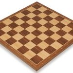 Walnut & Maple Notated Chess Board – 1.5″ Squares