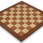 Walnut & Maple Standard Chess Board – 1.75″ Squares