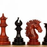 Wellington Staunton Chess Set in Ebony & African Padauk – 4.25″ King
