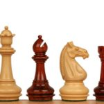 Khan's Stallion Staunton Chess Set in African Padauk & Boxwood – 4.25″ King