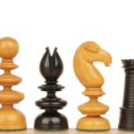 St. George Antique Reproduction Chess Set in Ebony & Boxwood – 3.75″ King