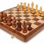 Folding Magnetic Travel Chess Set – 16″