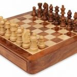 Magnetic Travel Chess Set with Drawer – 12″